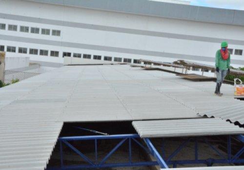 INFRAESTRUTURA NO HGR | Reforma do Bloco B entra na fase de cobertura, paredes e instalações elétricas