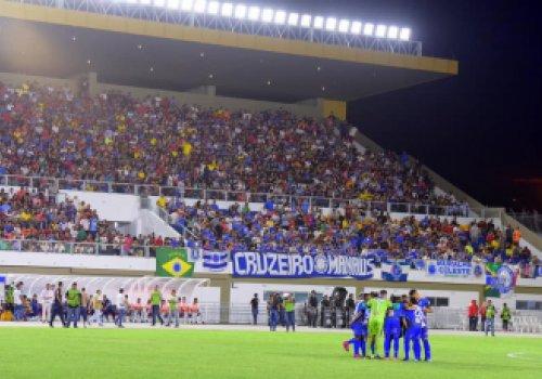 CANARINHO - Partida entre São Raimundo e Cruzeiro atrai cinco mil torcedores ao Estádio Canarinho