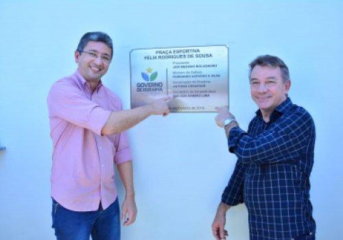 Mais infraestrutura no Trairão - Governador inaugura praça e anuncia melhorias no Amajari